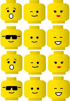 Dynamic image with regard to lego faces printable